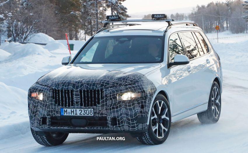 SPYSHOTS: BMW X7 LCI to come with split headlights Image #1315890
