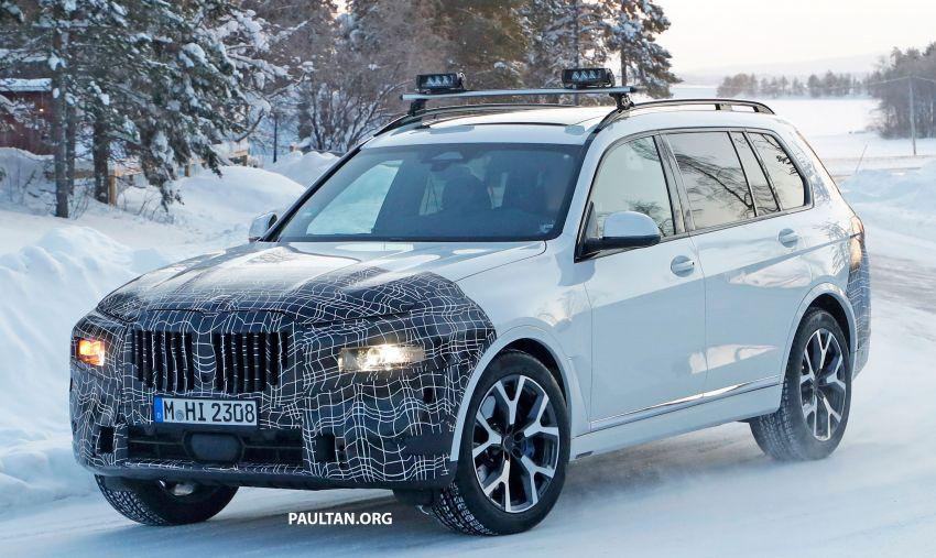 SPYSHOTS: BMW X7 LCI to come with split headlights Image #1315891