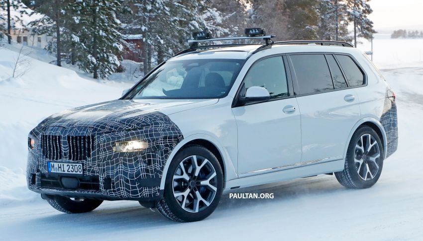 SPYSHOTS: BMW X7 LCI to come with split headlights Image #1315892