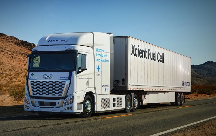Hyundai Xcient hydrogen fuel cell trucks, with over 1m km European mileage, will soon hit California roads Image #1323558