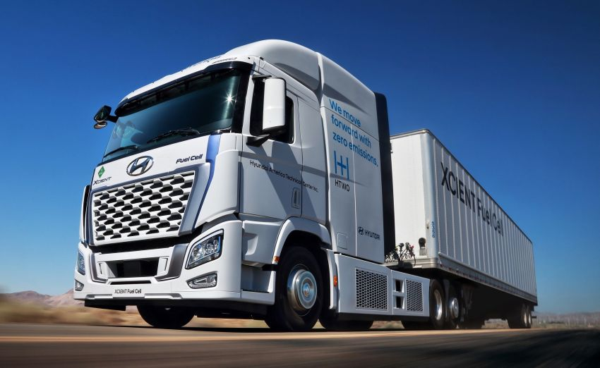 Hyundai Xcient hydrogen fuel cell trucks, with over 1m km European mileage, will soon hit California roads Image #1323559