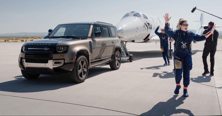 Land Rover Defender 110 and Range Rover Astronaut Edition support Virgin Galactic's maiden space flight Image #1318504