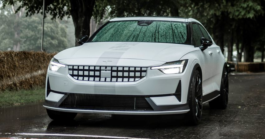 Experimental Polestar 2 debuts at Goodwood Festival of Speed – 476 PS; chassis, styling improvements Image #1317219