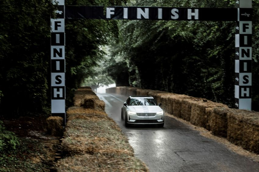 Experimental Polestar 2 debuts at Goodwood Festival of Speed – 476 PS; chassis, styling improvements Image #1317228