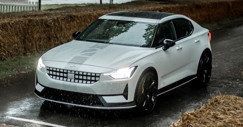 Experimental Polestar 2 debuts at Goodwood Festival of Speed – 476 PS; chassis, styling improvements Image #1317229