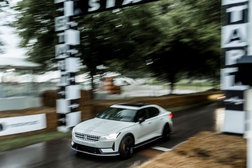 Experimental Polestar 2 debuts at Goodwood Festival of Speed – 476 PS; chassis, styling improvements Image #1317231