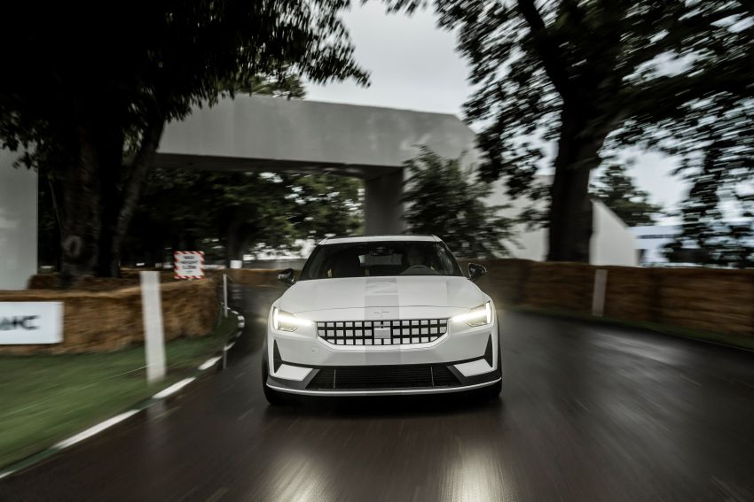 Experimental Polestar 2 debuts at Goodwood Festival of Speed – 476 PS; chassis, styling improvements Image #1317232