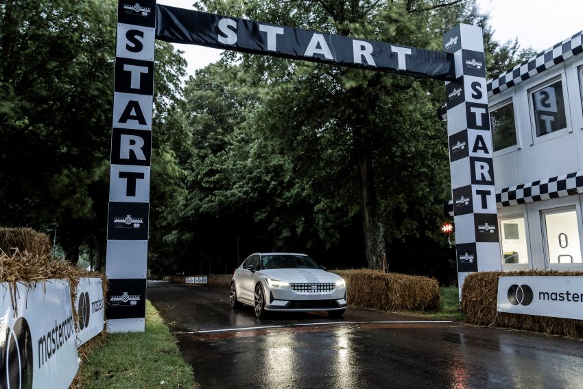 Experimental Polestar 2 debuts at Goodwood Festival of Speed – 476 PS; chassis, styling improvements Image #1317222