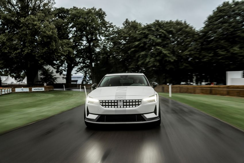 Experimental Polestar 2 debuts at Goodwood Festival of Speed – 476 PS; chassis, styling improvements Image #1317223