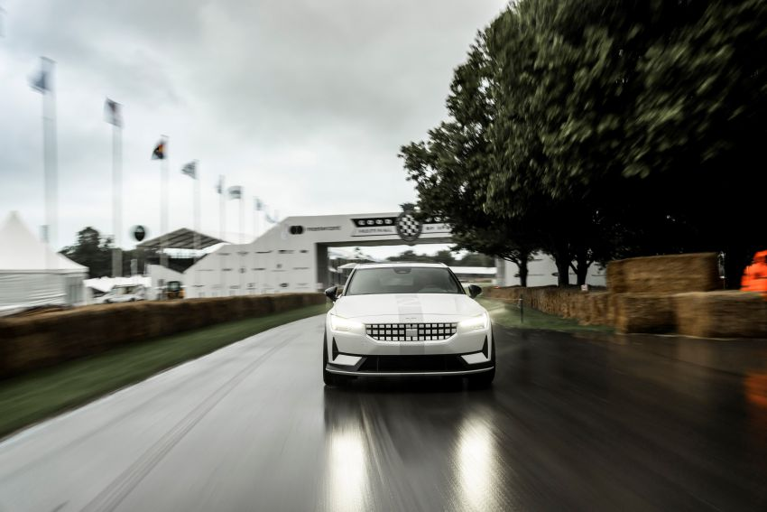 Experimental Polestar 2 debuts at Goodwood Festival of Speed – 476 PS; chassis, styling improvements Image #1317225