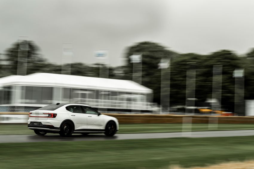 Experimental Polestar 2 debuts at Goodwood Festival of Speed – 476 PS; chassis, styling improvements Image #1317226