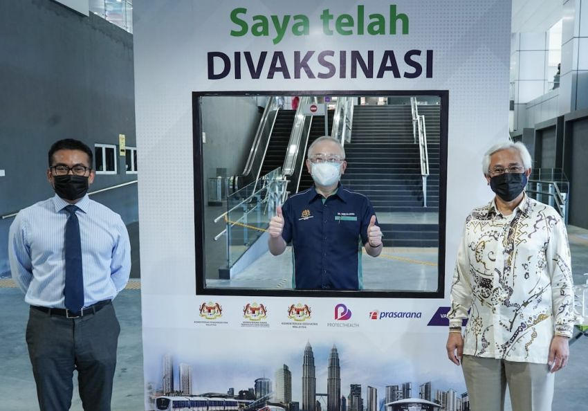 Prasarana opens vaccination centres (PPV) at Putra Heights LRT station and Cheras Selatan bus complex Image #1321433
