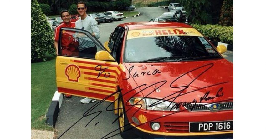 DSR company founder recounts the story of Michael Schumacher driving his Proton Wira 1.8 DOHC EXi Image #1317024