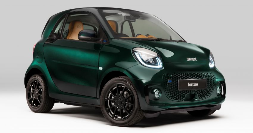 2021 smart EQ fortwo Racing Green Edition unveiled Image #1321803