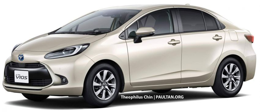 New Toyota Vios rendered based on Prius c, JDM Yaris – which one do you prefer, and which is more likely? Image #1322780