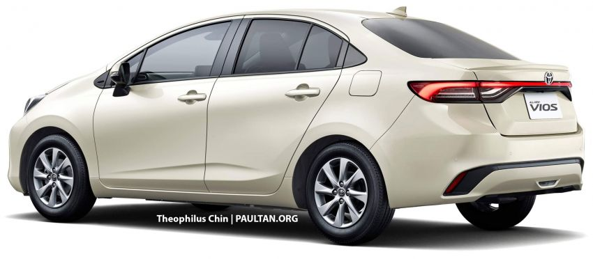 New Toyota Vios rendered based on Prius c, JDM Yaris – which one do you prefer, and which is more likely? Image #1322779