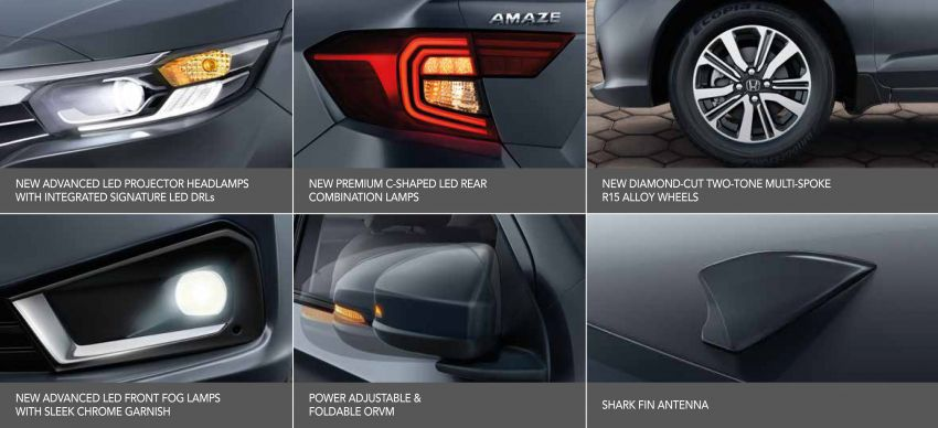 2021 Honda Amaze facelift launched in India – updated styling and features; same petrol and diesel engines Image #1332768