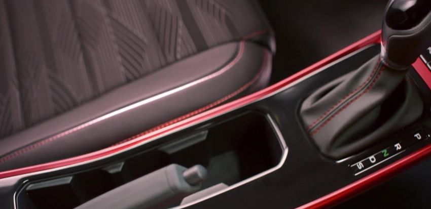 2021 Proton Iriz, Persona facelift official teaser – new SUV-style 'Iriz Active', centre console; floating screen Image #1325619