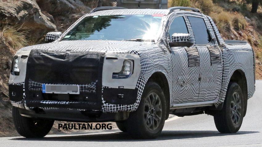 SPYSHOT: Ford Ranger 2022 dapat muka hadapan seperti Maverick, enjin plug-in hybrid 367 PS, 680 Nm Image #1327888