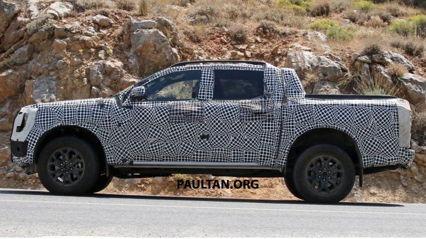 SPYSHOT: Ford Ranger 2022 dapat muka hadapan seperti Maverick, enjin plug-in hybrid 367 PS, 680 Nm Image #1327885