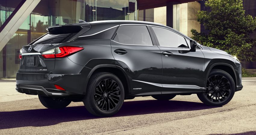 2022 Lexus RX Black Line debuts in the US, 2,500 units Image #1326941