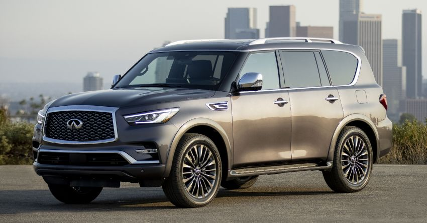 2022 Infiniti QX80 gains new 12.3-inch InTouch display, wireless device charger, Apple CarPlay, Android Auto Image #1334188