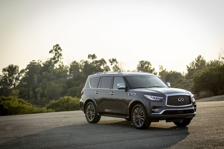 2022 Infiniti QX80 gains new 12.3-inch InTouch display, wireless device charger, Apple CarPlay, Android Auto Image #1334190