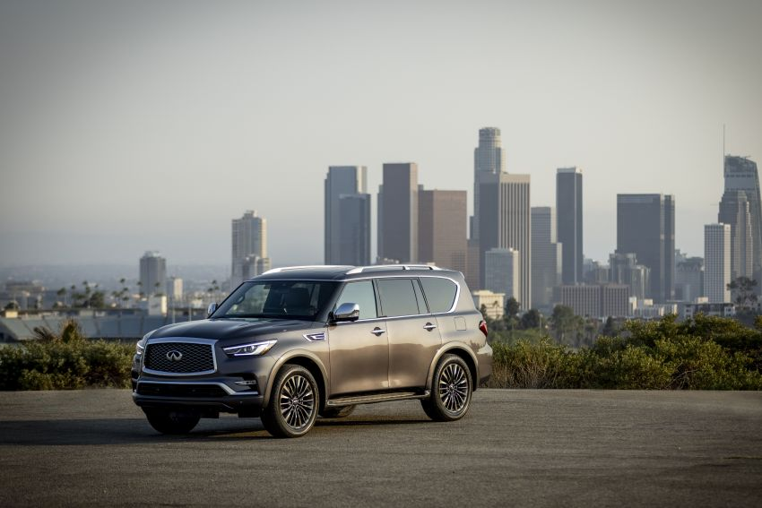 2022 Infiniti QX80 gains new 12.3-inch InTouch display, wireless device charger, Apple CarPlay, Android Auto Image #1334192