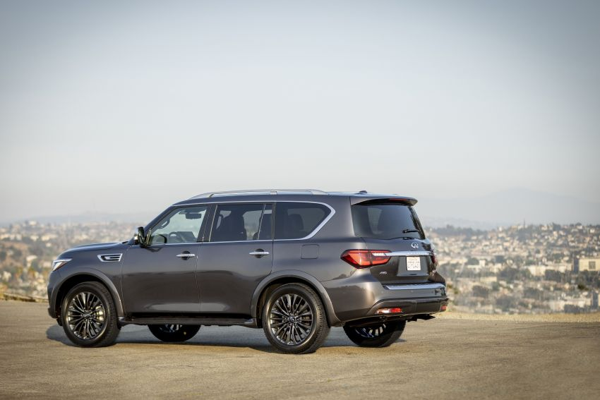 2022 Infiniti QX80 gains new 12.3-inch InTouch display, wireless device charger, Apple CarPlay, Android Auto Image #1334194