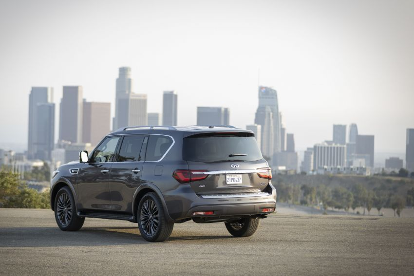 2022 Infiniti QX80 gains new 12.3-inch InTouch display, wireless device charger, Apple CarPlay, Android Auto Image #1334196