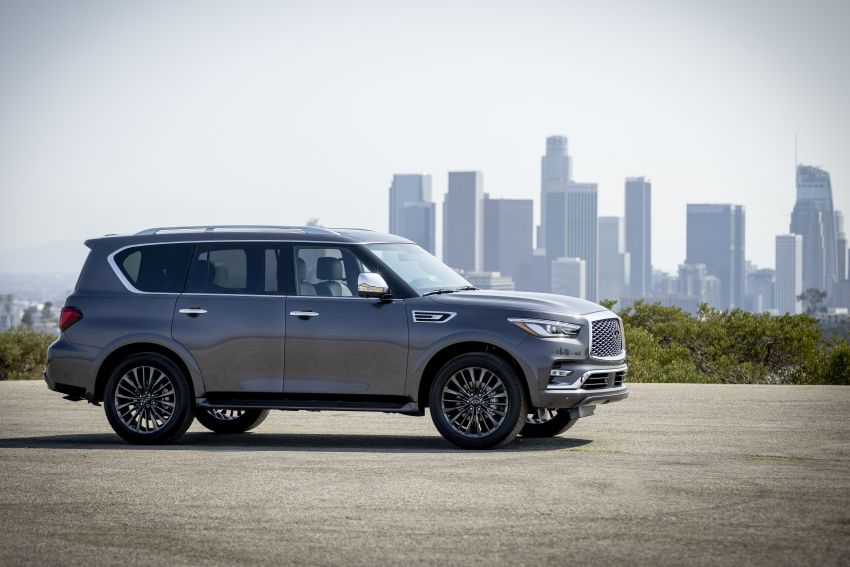2022 Infiniti QX80 gains new 12.3-inch InTouch display, wireless device charger, Apple CarPlay, Android Auto Image #1334198