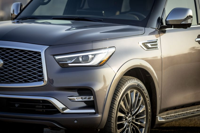 2022 Infiniti QX80 gains new 12.3-inch InTouch display, wireless device charger, Apple CarPlay, Android Auto Image #1334203