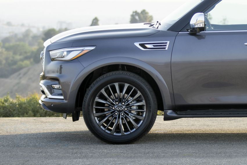 2022 Infiniti QX80 gains new 12.3-inch InTouch display, wireless device charger, Apple CarPlay, Android Auto Image #1334207