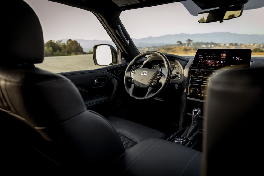 2022 Infiniti QX80 gains new 12.3-inch InTouch display, wireless device charger, Apple CarPlay, Android Auto Image #1334209