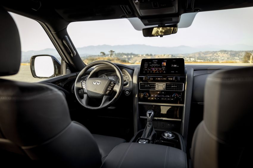 2022 Infiniti QX80 gains new 12.3-inch InTouch display, wireless device charger, Apple CarPlay, Android Auto Image #1334211