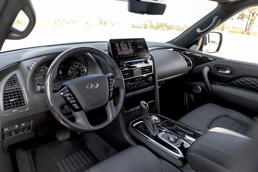 2022 Infiniti QX80 gains new 12.3-inch InTouch display, wireless device charger, Apple CarPlay, Android Auto Image #1334213