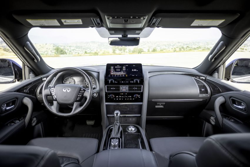 2022 Infiniti QX80 gains new 12.3-inch InTouch display, wireless device charger, Apple CarPlay, Android Auto Image #1334215