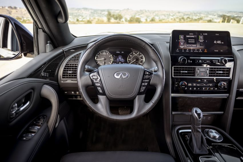 2022 Infiniti QX80 gains new 12.3-inch InTouch display, wireless device charger, Apple CarPlay, Android Auto Image #1334217