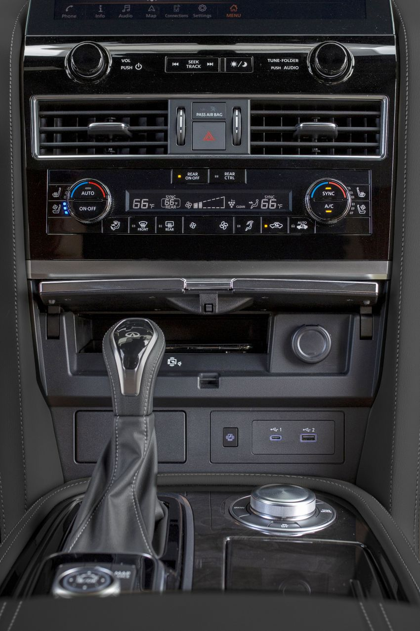 2022 Infiniti QX80 gains new 12.3-inch InTouch display, wireless device charger, Apple CarPlay, Android Auto Image #1334220