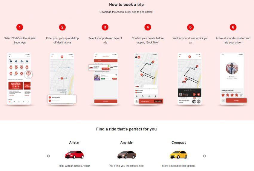 AirAsia Ride dilancarkan di Malaysia untuk saingi Grab Image #1335597