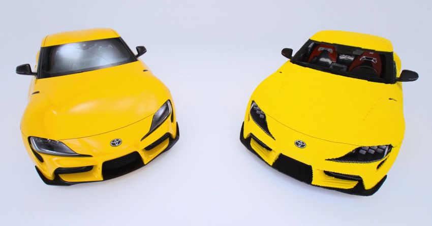 Toyota and Lego built a life-sized GR Supra replica that drives – 28 km/h; 477,303 pieces; 2.4k hours build time Image #1330406