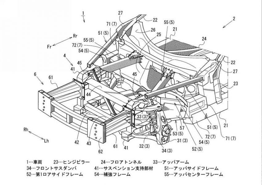 Mazda sports coupé structure sighted in patent filings Image #1328368