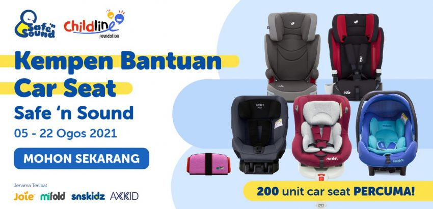 """""""Kempen Bantuan Car Seat Safe 'n Sound"""" initiative offering 200 free child seats to parents in need of one Image #1328988"""