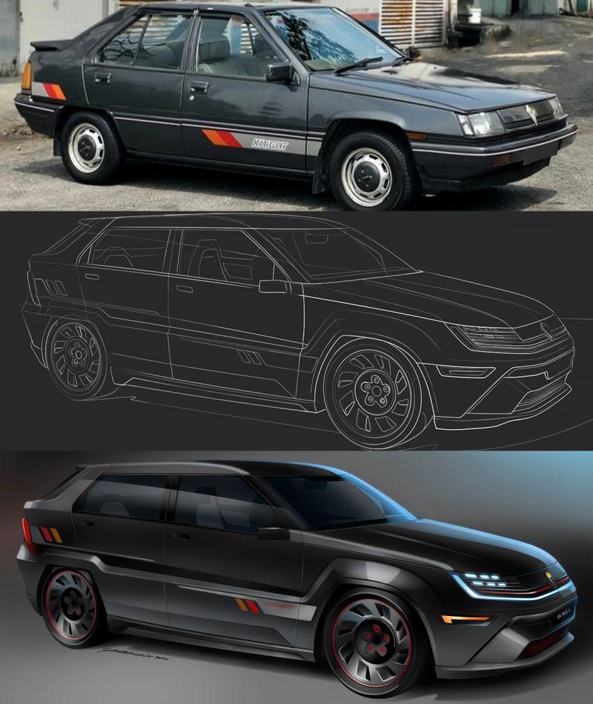 Proton Saga Knight concept – a modern Aeroback rendition by MIMOS design head Saharudin Busri Image #1334060