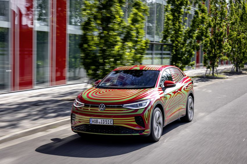 Volkswagen ID.5 GTX near-production concept to debut at Munich; dual-motor AWD, up to 497 km range Image #1328075
