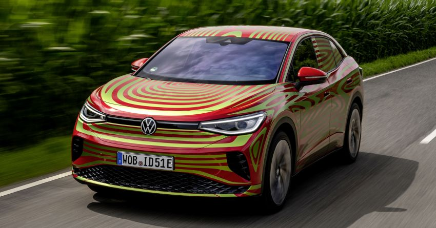Volkswagen ID.5 GTX near-production concept to debut at Munich; dual-motor AWD, up to 497 km range Image #1328079
