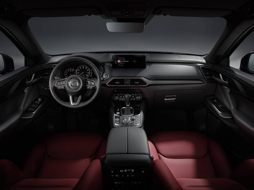 Mazda CX-9 2021 diperkenal di M'sia — Apple CarPlay tanpa wayar, kerusi merah, luaran Ignite Edition Image #1345446