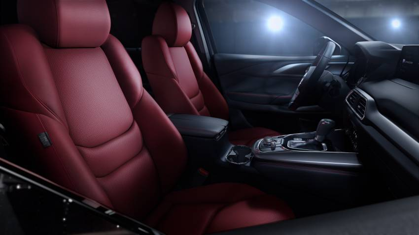 Mazda CX-9 2021 diperkenal di M'sia — Apple CarPlay tanpa wayar, kerusi merah, luaran Ignite Edition Image #1345448