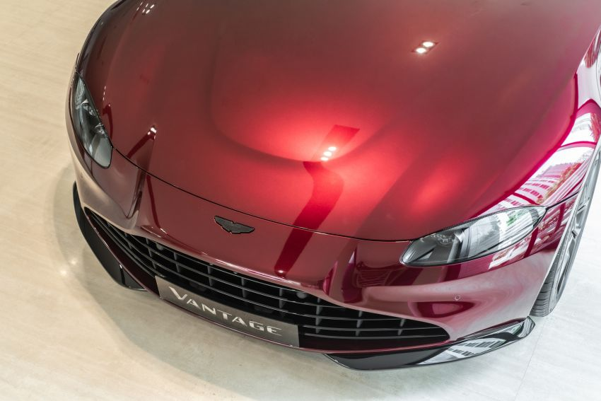 Aston Martin Vantage 'Liquid Crimson' in Malaysia – first unit here with the 70th anniversary 'vaned' grille Image #1339793