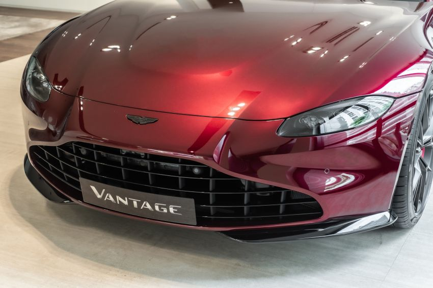 Aston Martin Vantage 'Liquid Crimson' in Malaysia – first unit here with the 70th anniversary 'vaned' grille Image #1339794